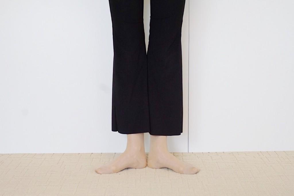 骨盤スクワット・プリエ両足をそろえて立つイメージ